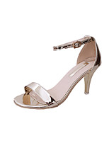 Femme-Extérieure Habillé Soirée & Evénement-Or Blanc Noir Argent-Talon Aiguille-Bride de Cheville Semelles Légères Confort-Chaussures à