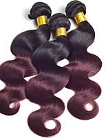 Ombre Human Hair Weave Peruvian Virgin Hair Body Wave 3pc 1B/99j Ombre Peruvian Hair Bundles Ombre Hair Extensions