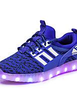 Garçon Chaussures d'Athlétisme Confort Nouveauté Chaussures Lumineuses Filet Automne Hiver Athlétique Décontracté Lacet Talon PlatNoir
