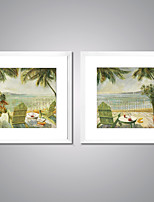 Framed Canvas Prints  Scenery by Beach Picture Print on Canvas Contemporary Wall Art for Home Decoration