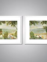 Gerahmte Leinwanddrucke Abstrakt Landschaft Realismus Traditionell,Zwei Panele Leinwand Quadratisch Druck-Kunst Wand Dekoration For Haus