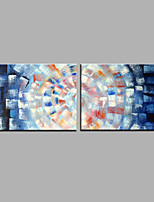 Hand-Painted Abstract Horizontal Modern Two Panels Canvas Oil Painting For Home Decoration