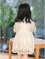 Vestido Chica de Casual/Diario Un Color Algodón Manga Larga Invierno Primavera Otoño