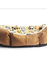 Dog Bed Pet Mats & Pads Soft Brown Nylon Cotton