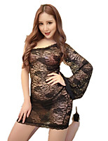 Women's Sexy Temptation Transparent Lace Jacquard Pajamas