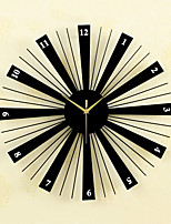 Creative Fashion Metal & Wood Mute Wall Clocks