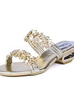 Women's Slippers & Flip-Flops Spring Summer Comfort PU Casual Flat Heel Sparkling Glitter