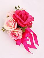 Fleurs de mariage Forme libre Roses Boutonnières Mariage La Fête / soirée Satin