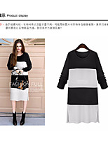 Women's Going out Casual/Daily Party Simple Spring Blouse,Solid Round Neck Short Sleeve Cotton Thin