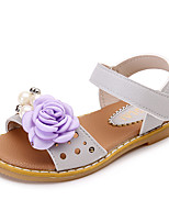Girls' Sandals Summer Comfort Leatherette Outdoor Office & Career Party & Evening Dress Casual Flat Heel Applique