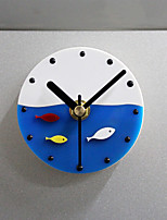 Plastic Magnet Clock Refrigerator Kitchen Wall Clock Fish Design Plastic Fish Refrigerator Magnet