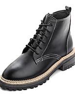 Women's Boots Winter Mary Jane PU Casual Chunky Heel