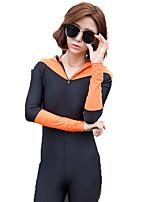 SBART® Жен. Гидрокостюмы Ультрафиолетовая устойчивость Защита от излучения Эластан Чинлон Водолазный костюм Длинные рукава Гидрокостюмы-