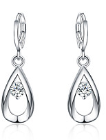 Drop Earrings Euramerican Silver Plated Drop ZirconJewelry For Daily 1 pair