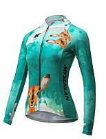 Cycling Jersey Women's Long Sleeve Bike Breathable Quick Dry Jersey Polyester Fashion Spring Summer Fall/Autumn