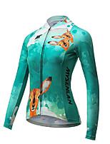 Велокофты Жен. Длинные рукава Велоспорт Дышащий Быстровысыхающий Джерси Полиэстер Мода Весна Лето Осень