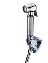 Brass Chrome Portable Toilet Bidet Multifunctional Shower Sprayer Jet / 150 cm Hose And Shower Holder Included