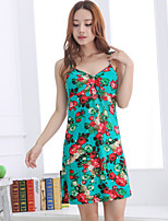 Women's Gartered Lingerie Nightwear,Push-Up Floral-Medium Modal Women's