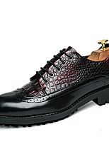 Men's Oxfords Spring Fall Club Shoes Gladiator Creepers Formal Shoes Comfort Bullock shoes Leather Wedding Office & Career Party & Evening