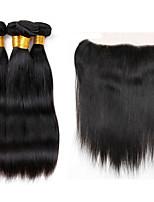 Tissages de cheveux humains Cheveux Indiens Droit 12 mois 5 Pièces tissages de cheveux