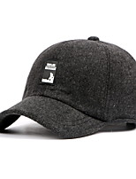 Men's Cotton Blend Baseball Cap,Casual Solid Spring