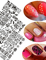 10pcs/set New Sweet Lace Nail Stamping Plate Colorful Image Design DIY Fashion Stamping Stencils Manicure Beauty Tool BC11-20