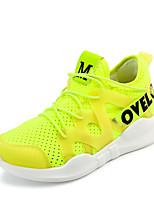 Da donna-Sneakers-Tempo libero Casual Sportivo-Comoda Suole leggere-Piatto-Tulle-Bianco Nero Verde