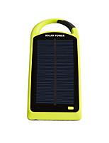 8000mAhmAhbanco de la energía de la batería externa Carga Solar Multisalida Linterna 8000mAh 1000mA / 1000mACarga Solar Multisalida