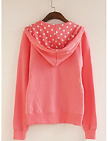 Women's Plus Size Casual/Daily Active Hoodie Solid Letter Print Oversized V Neck Removable Hood Micro-elastic Cotton