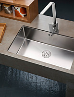 31.88-inch 16 Gauge Undermount Single Bowl Stainless Steel Kitchen Sink