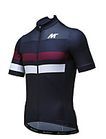 MYSENLAN® Camisa para Ciclismo Homens Manga Curta Moto Respirável Secagem Rápida Camisa/Roupas Para Esporte Poliéster Moderno Verão
