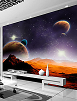 Art Deco Wallpaper For Home Wall Covering Canvas Adhesive Required Mural Colored Planet Desert SceneryXXXL(448*280cm)