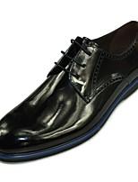 Черный Вино-Для мужчин-Для офиса Повседневный-Кожа-На плоской подошве-Формальная обувь-Мокасины и Свитер