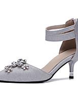 Women's Heels Slingback Gladiator Leatherette Summer Fall Wedding Casual Office & Career Dress Slingback Gladiator Stiletto HeelSilver