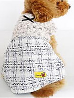 Dog Dress Dog Clothes Spring/Fall British Casual/Daily