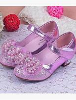 -Девочки-Для прогулок Повседневный-Дерматин-На низком каблуке-Обувь для малышей-На плокой подошве
