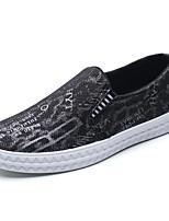 Золотой Черный Красный-Для мужчин-Для прогулок Повседневный Для занятий спортом-Ткань-На плоской подошве-Удобная обувь-Мокасины и Свитер
