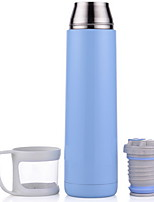 minimalismo Al Aire Libre Artículos para Bebida, 500 ml Portable Acero Inoxidable Agua ventosa