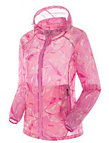 Women's Tops Camping / Hiking Fishing Backcountry Breathable Thermal / Warm Spring Summer Fall/Autumn Pink Orange Lake Blue