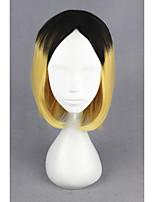 Short Haikyuu!!-kozumekenma Black&Yellow 14inch Anime Cosplay Wig CS-186B