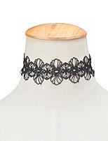 목걸이 돌 없음 초커 목걸이 보석류 결혼식 특별한 때 Halloween 약혼 베이직 디자인 유니크 디자인 개인 레이스 1PC 선물 블랙 화이트