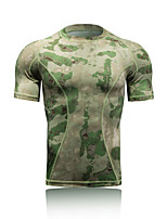 Men's Short Sleeve Running Tops Thermal / Warm Quick Dry Ultraviolet Resistant Antistatic Sunscreen Spring Summer Fall/Autumn Sports Wear