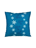 Turqua SNOW FLAKES 100% Cotton Cushion Cover Printed Snow Flakes for Bed Couch Sofa Chair for Home Hotel Or Office Free Shipping
