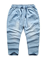 Unisex Casual/Daily Solid Pants-Cotton Summer Spring Fall