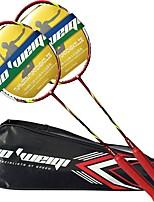 Raquetes para Badminton Durabilidade Estabilidade Fibra de Carbono Um Par × 2 para Ao ar Livre Espetáculo Praticar Esportes de Lazer