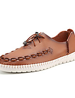 Men's Loafers & Slip-Ons Summer Round Toe PU Casual Flat Heel Others  Brown