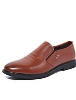 Черный Коричневый-Для мужчин-Для прогулок Для офиса Повседневный-Микроволокно-На плоской подошве-Светодиодные подошвы Удобная обувь-
