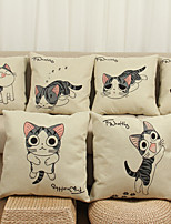 7 pcs Linen Pillow Cover Pillow Case,Novelty Animal Print Still Life Graphic Prints Modern/Contemporary Office/Business Others Euro
