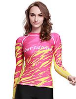 SBART® Women's Wetsuit Top Sunscreen Elastane Terylene Diving Suit Long Sleeve Tops-Swimming Spring Summer Fall/Autumn Winter Fashion