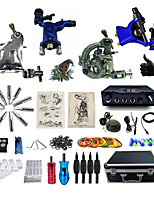 Complete Tattoo Kit 4 Machines G4A5Z12R5R7 Liner & Shader Dual LED Digital Power Supply